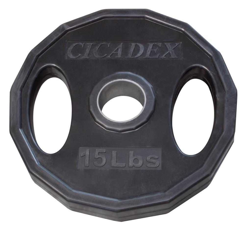 105 kg fengicon Juego de discos ol/ímpicos con apertura de 5 cm para placa de peso muscular