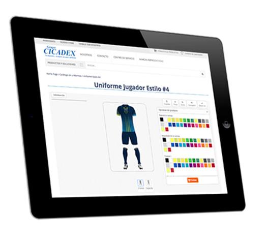 Uniformes deportivos - Crea y elige tu diseño - Cicadex c590eaad992c9
